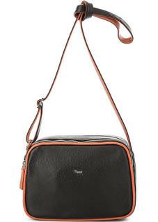 Маленькая кожаная сумка с тонким плечевым ремнем Bruno Rossi