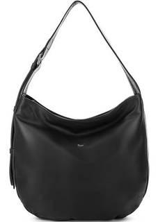 Черная сумка из натуральной кожи на молнии Bruno Rossi