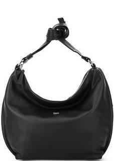 Черная кожаная сумка через плечо Bruno Rossi