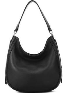 Черная кожаная сумка на молнии Rebecca Minkoff
