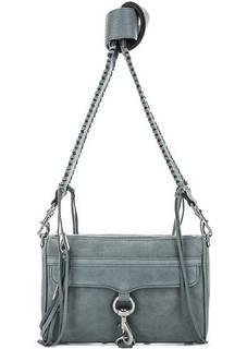 Синяя замшевая сумка через плечо Rebecca Minkoff
