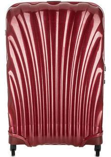 Бордовый чемодан на колесах с двумя отделами Samsonite