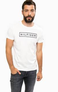 Белая футболка с контрастным принтом Tommy Hilfiger