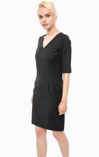 Черное платье с разрезом сзади Cinque