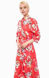 Блуза из вискозы с цветочным принтом Cinque