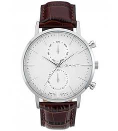 Часы с коричневым кожаным браслетом Gant