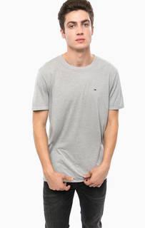 Серая трикотажная футболка Hilfiger Denim