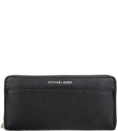 Кожаный кошелек черного цвета Michael Michael Kors