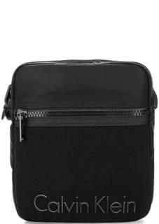 Маленькая текстильная сумка с объемным принтом Calvin Klein Jeans