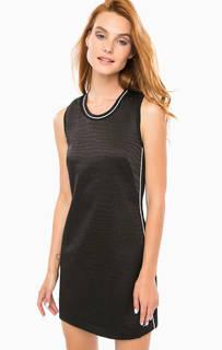 Короткое черное платье с вышивкой Calvin Klein Jeans