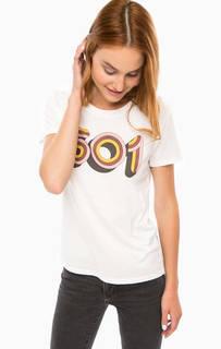 Хлопковая футболка с принтом Levis®