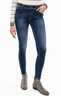 Зауженные джинсы с декоративной отделкой Kocca