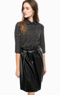 Черное платье с отложным воротничком Kocca