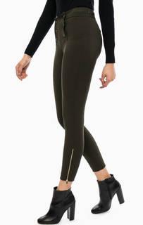Трикотажные брюки цвета хаки на пуговицах Kocca