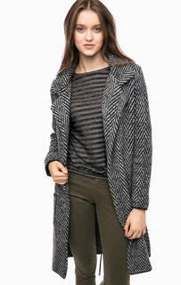 Вязаное пальто с лацканами Kocca