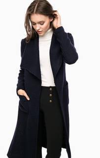 Синее пальто с разрезами по бокам Kocca