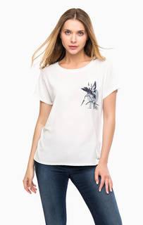 Белая трикотажная футболка Tom Tailor Denim