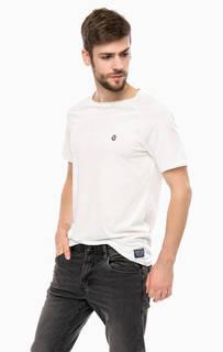Однотонная хлопковая футболка Tom Tailor Denim