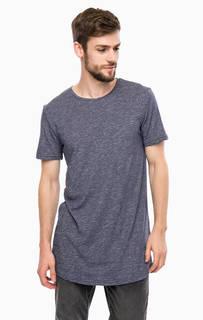 Трикотажная синяя футболка Tom Tailor Denim