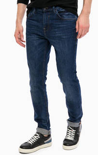 Синие джинсы скинни с низкой посадкой Tom Tailor Denim