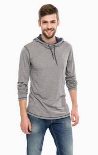 Трикотажная футболка с капюшоном Tom Tailor Denim
