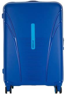 Пластиковый чемодан на молнии American Tourister