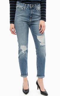 Рваные джинсы синего цвета Lee