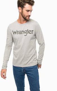 Хлопковая футболка с длинными рукавами Wrangler