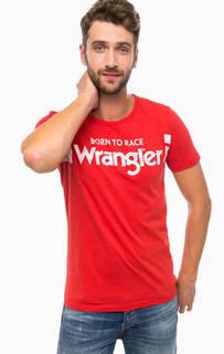 Хлопковая футболка с принтом Wrangler