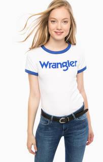 Трикотажная футболка с логотипом бренда Wrangler