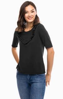 Однотонная трикотажная футболка Vero Moda