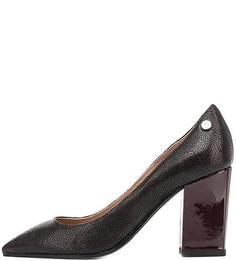 Кожаные туфли на устойчивом каблуке Pollini