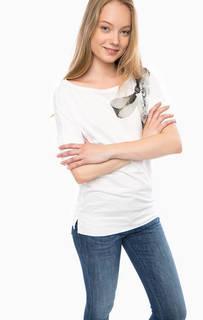 Хлопковая футболка с декоративной отделкой Gas