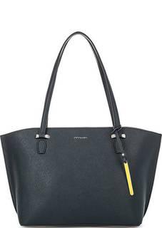 Синяя сумка из сафьяновой кожи на молнии Cromia