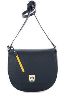 Маленькая кожаная сумка с откидным клапаном Cromia