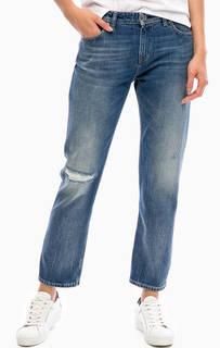 Рваные укороченные джинсы с заломами Hilfiger Denim