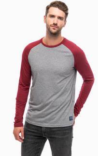 Трикотажная футболка с хлопковыми рукавами Tom Tailor Denim