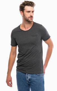 Серая футболка с короткими рукавами и карманом Mavi