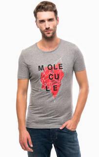Серая футболка с ярким принтом Mavi