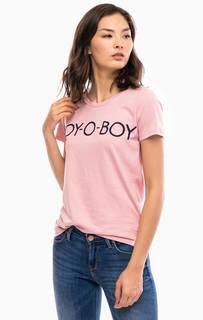 Хлопковая футболка с короткими рукавами Wrangler