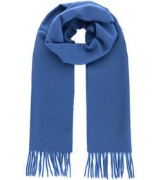 Синий шарф из шерсти Gant