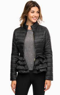 Легкая куртка черного цвета с оборками Liu Jo