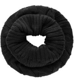 Черный вязаный шарф-хомут Liu Jo