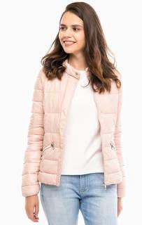 Легкая розовая куртка на молнии и кнопках Tom Tailor Denim