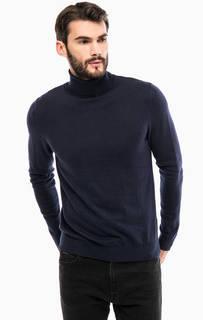 Хлопковый джемпер с высоким воротником Calvin Klein Jeans
