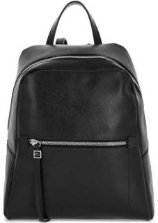 Черный кожаный рюкзак с одинм отделом Gianni Chiarini