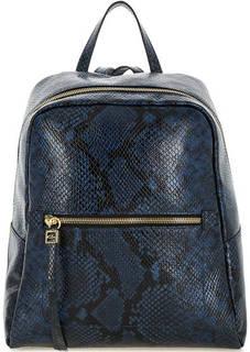 Синий кожаный рюкзак с выделкой под рептилию Gianni Chiarini