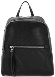 Черный кожаный рюкзак на молнии Gianni Chiarini