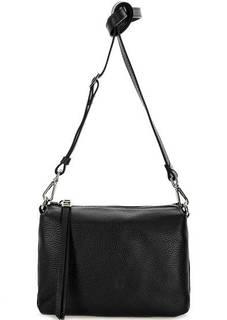 Маленькая кожаная сумка с тремя отделами Gianni Chiarini