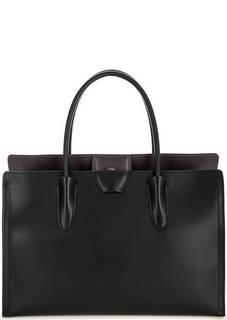 Черная кожаная сумка с одним отделом Gianni Chiarini